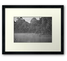 Chilly Morning in Black and White Framed Print