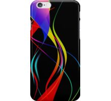 Waves of Color on Black  iPhone Case/Skin