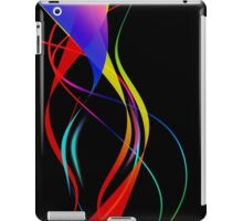 Waves of Color on Black  iPad Case/Skin