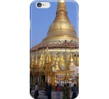Sunset procession at Shewdagon pagodo - Yangon, Myanmar iPhone Case/Skin