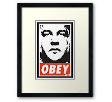 OBEY: CHRIS CHRISTIE Framed Print