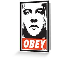 OBEY: CHRIS CHRISTIE Greeting Card