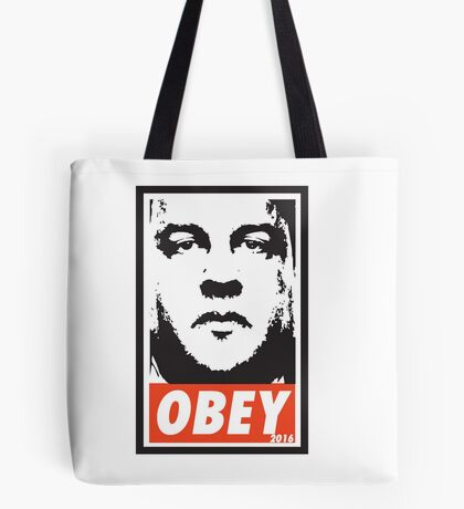 OBEY: CHRIS CHRISTIE Tote Bag