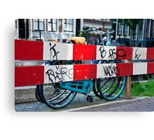 Bicycle Barrier Canvas Print