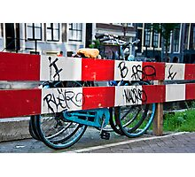Bicycle Barrier Photographic Print