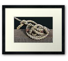 Bow Line Framed Print