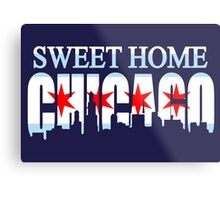 Sweet Home Chicago Flag Skyline Metal Print