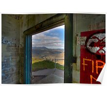 Mt. Tamalpais from abandoned building, Marin Headlands Poster