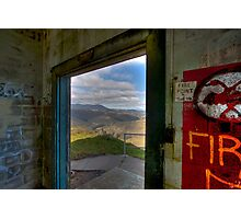 Mt. Tamalpais from abandoned building, Marin Headlands Photographic Print