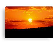 Burnt-orange sunset Canvas Print