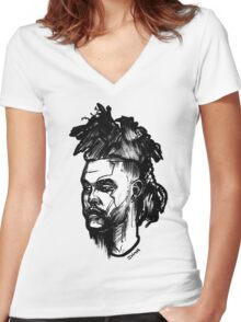 A Nice Mohawk Women's Fitted V-Neck T-Shirt