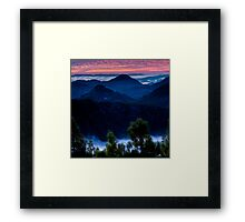 Waiting for Sunrise in the Mayacamas Framed Print