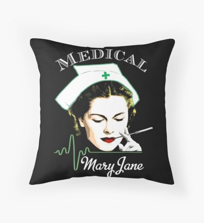 Medical Mary Jane  Throw Pillow