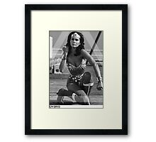OVERFIFTEEN WONDER WOMAN Framed Print