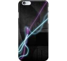 Woman Hiding Behind the Beams iPhone Case/Skin
