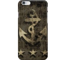 Vintage Rustic Nautical Anchor Stars iPhone Case/Skin