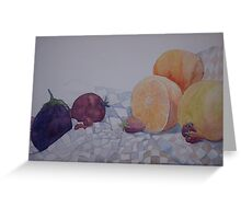 fruitful still life Greeting Card