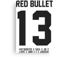 RED BULLET 13 Canvas Print