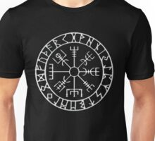 Vegvísir (Icelandic 'sign post') Symbol - CHROME Unisex T-Shirt