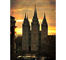 Salt Lake LDS Temple Photographic Print