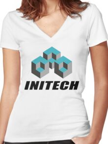 Initech Corp. Women's Fitted V-Neck T-Shirt
