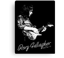 Rory Gallagher Irish tour 74 Canvas Print