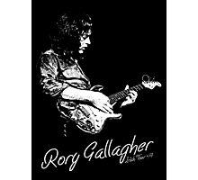 Rory Gallagher Irish tour 74 Photographic Print