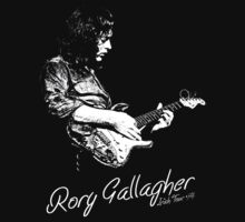 Rory Gallagher Irish tour 74 by thehappyiceman7