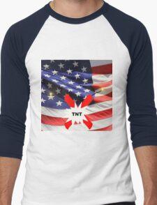 American Flag with Dynomite Men's Baseball ¾ T-Shirt