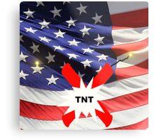 American Flag with Dynomite Metal Print
