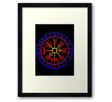 Vegvísir (Icelandic 'sign post') Symbol - SUMMER Framed Print