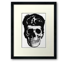 Rockabilly Skull Framed Print