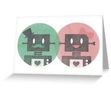 Lady and Sir Robot Greeting Card