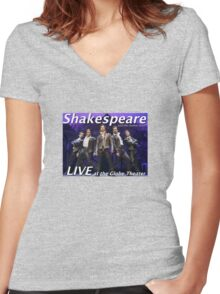 Shakespeare and the leather boys LIVE Women's Fitted V-Neck T-Shirt