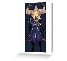 fullmetal alchemist alex louis olivier armstrong anime manga shirt Greeting Card