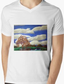 Willow Reflections Mens V-Neck T-Shirt