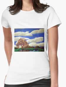 Willow Reflections Womens Fitted T-Shirt