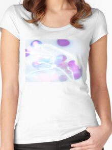 White Shimmer Women's Fitted Scoop T-Shirt