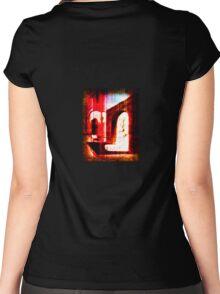 demonic doorway Women's Fitted Scoop T-Shirt