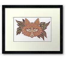 Fox head. Native american style. Ethnic animals Framed Print