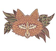 Fox head. Native american style. Ethnic animals Photographic Print