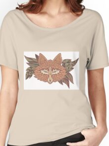 Fox head. Native american style. Ethnic animals Women's Relaxed Fit T-Shirt