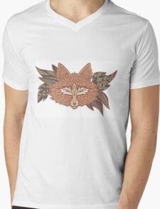 Fox head. Native american style. Ethnic animals Mens V-Neck T-Shirt