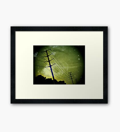 a journey looking to the skies Framed Print