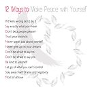 Peace with Yourself by cdwork