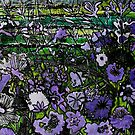 Woodcut Flower Print - Mauve by Belinda &quot;BillyLee&quot; NYE (Printmaker)