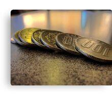 100 coins Canvas Print