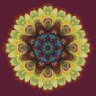 Fractal Mandala Geometry Hearts by webgrrl