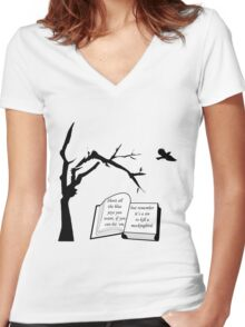 A Sin To Kill A Mockingbird Women's Fitted V-Neck T-Shirt