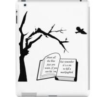A Sin To Kill A Mockingbird iPad Case/Skin